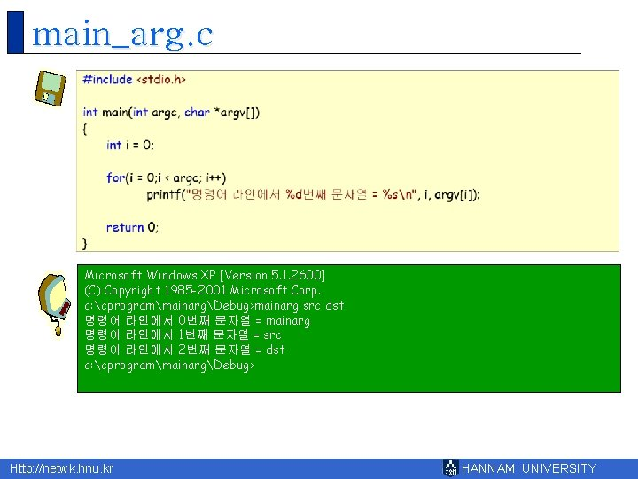 main_arg. c Microsoft Windows XP [Version 5. 1. 2600] (C) Copyright 1985 -2001 Microsoft