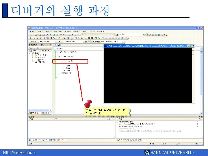 디버거의 실행 과정 Http: //netwk. hnu. kr HANNAM UNIVERSITY