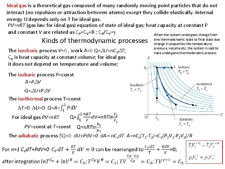 Ideal gas is a theoretical gas composed of many randomly moving point particles that