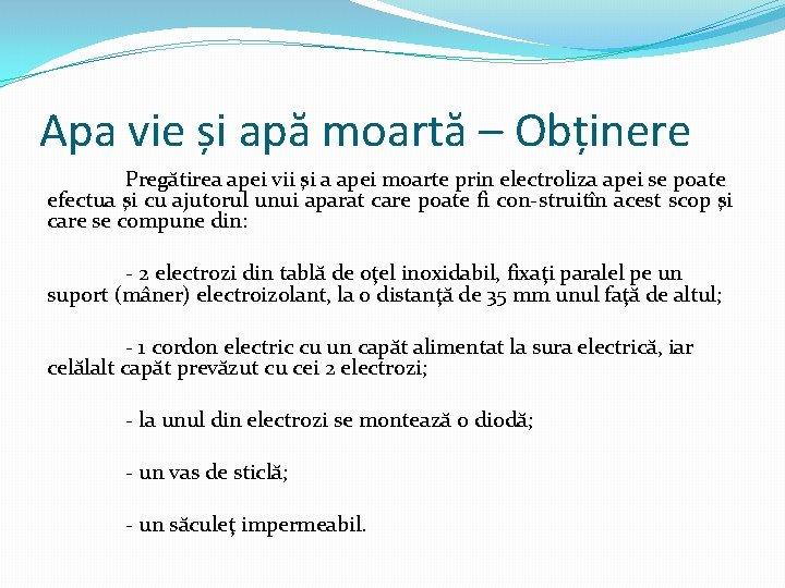 """Experiență de apă """"vie"""" și """"moartă"""" pentru tratarea cataractei"""
