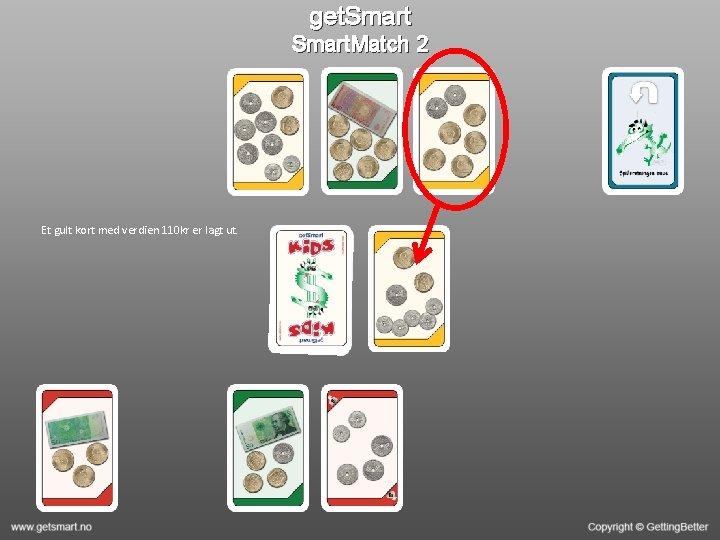 get. Smart. Match 2 Et gult kort med verdien 110 kr er lagt ut.