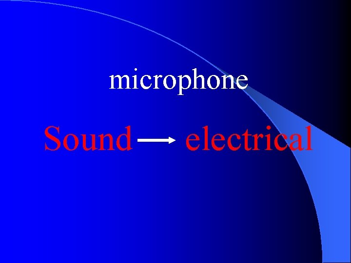 microphone Sound electrical