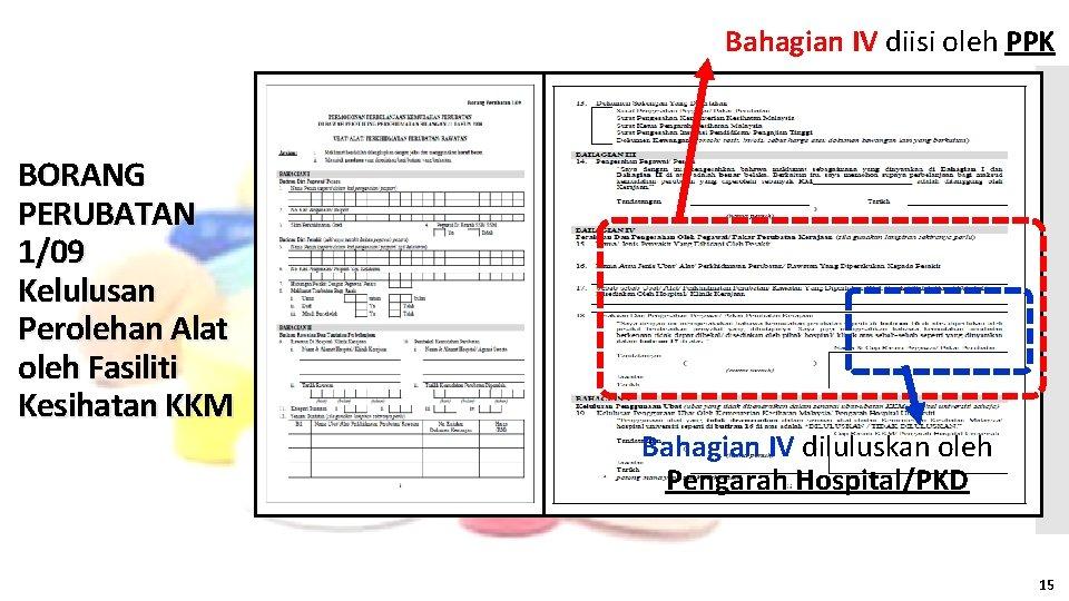Bahagian IV diisi oleh PPK BORANG PERUBATAN 1/09 Kelulusan Perolehan Alat oleh Fasiliti Kesihatan