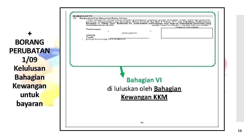 + BORANG PERUBATAN 1/09 Kelulusan Bahagian Kewangan untuk bayaran Bahagian VI di luluskan oleh