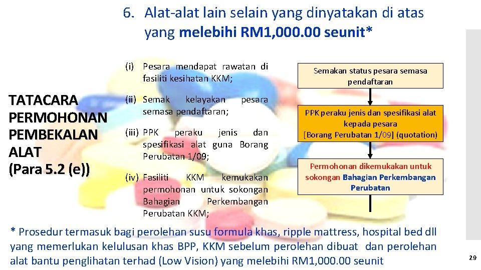 6. Alat-alat lain selain yang dinyatakan di atas yang melebihi RM 1, 000. 00