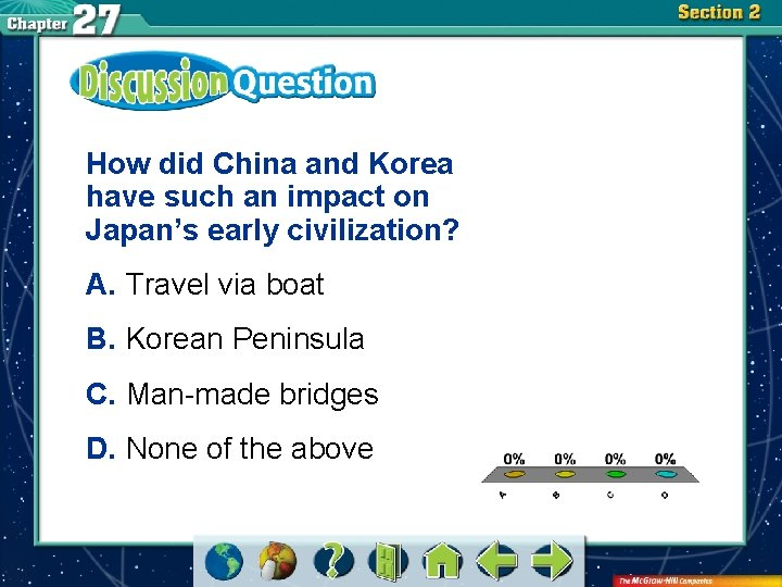 How did China and Korea have such an impact on Japan's early civilization? A.