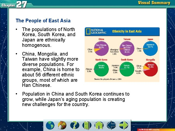 The People of East Asia • The populations of North Korea, South Korea, and