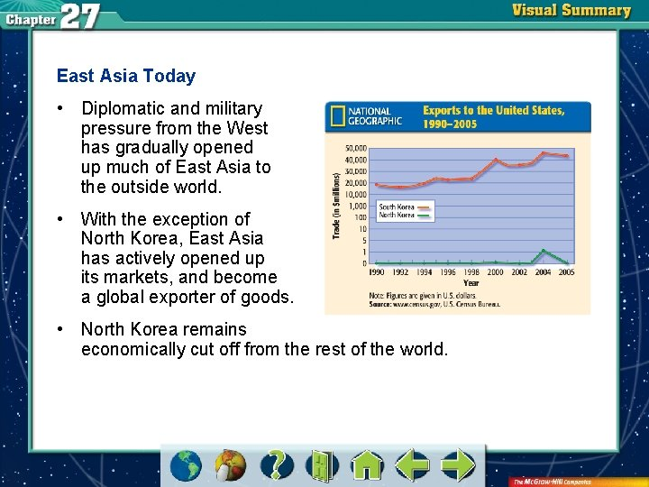 East Asia Today • Diplomatic and military pressure from the West has gradually opened