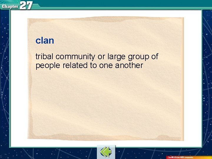 clan tribal community or large group of people related to one another