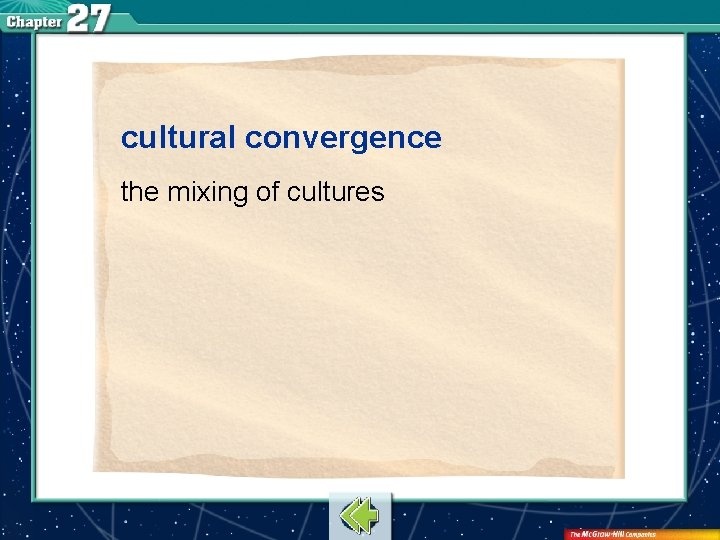 cultural convergence the mixing of cultures