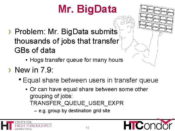 Mr. Big. Data › Problem: Mr. Big. Data submits thousands of jobs that transfer