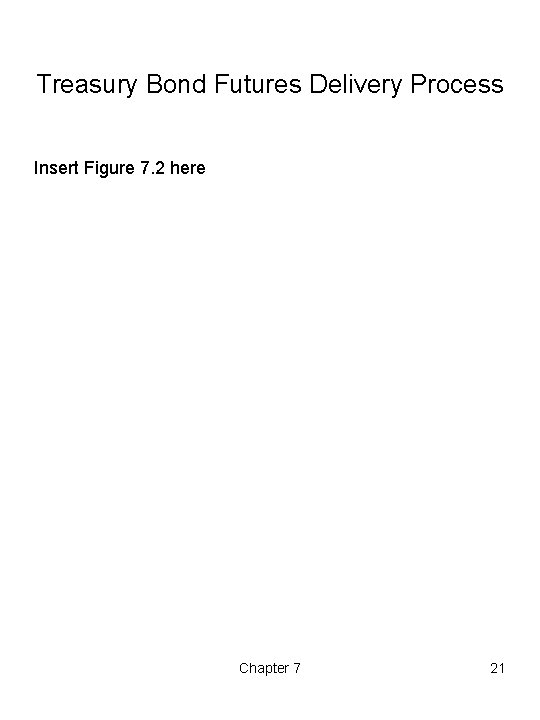 Treasury Bond Futures Delivery Process Insert Figure 7. 2 here Chapter 7 21