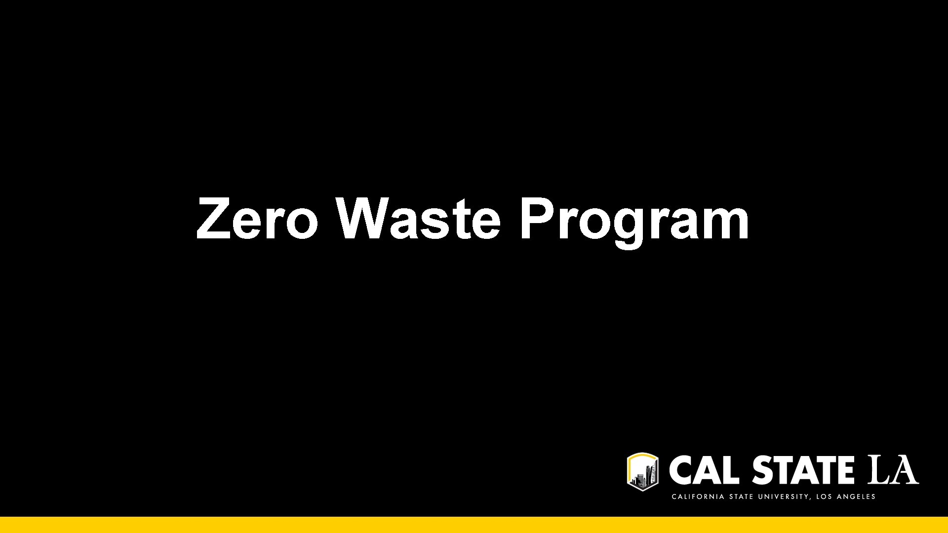 Zero Waste Program