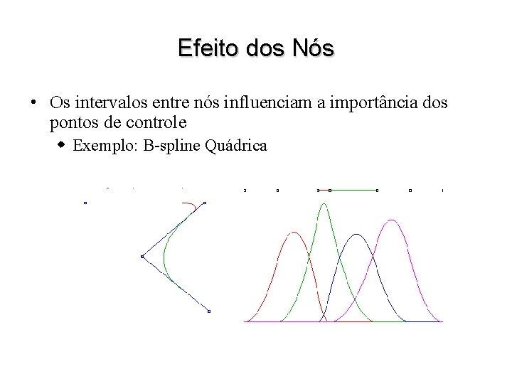 Efeito dos Nós • Os intervalos entre nós influenciam a importância dos pontos de