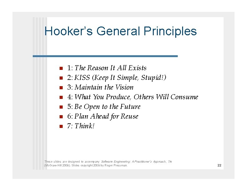 Hooker's General Principles     1: The Reason It All Exists 2: