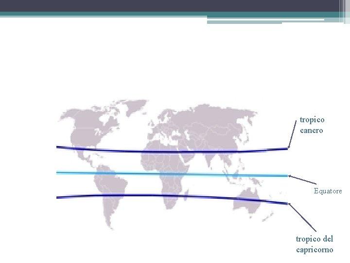 tropico cancro Equatore tropico del capricorno