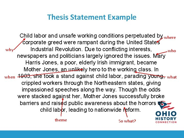 Help creating a thesis sentence endicott college admissions essay