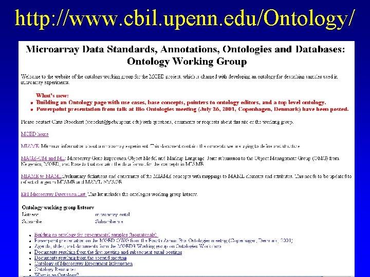 http: //www. cbil. upenn. edu/Ontology/