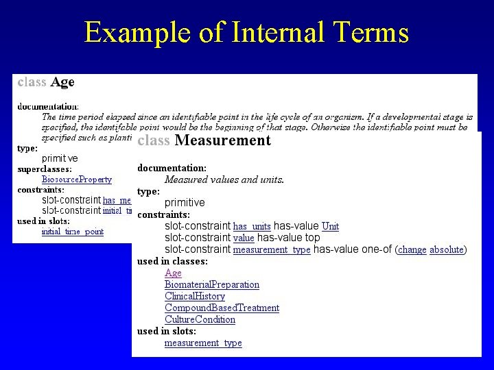 Example of Internal Terms