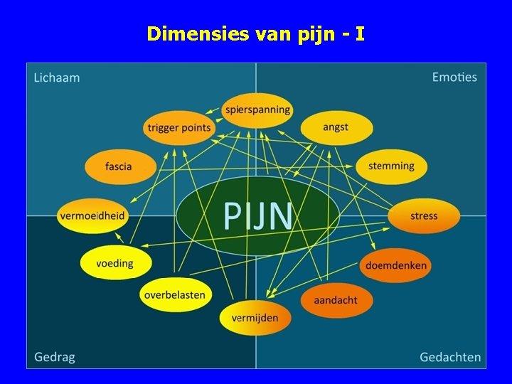 Dimensies van pijn - I