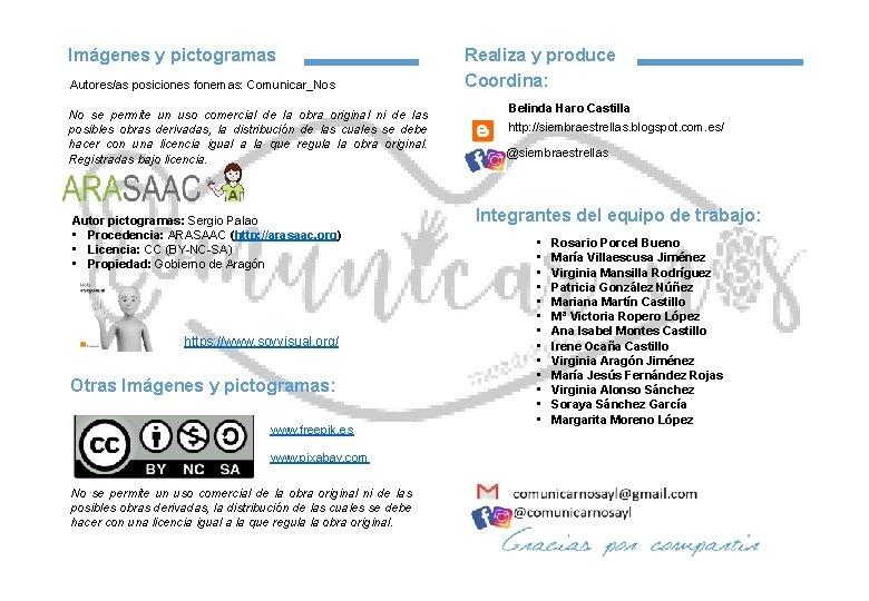 Imágenes y pictogramas Autores/as posiciones fonemas: Comunicar_Nos No se permite un uso comercial de