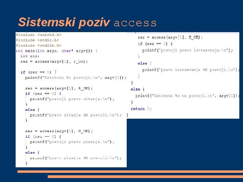 Sistemski poziv access