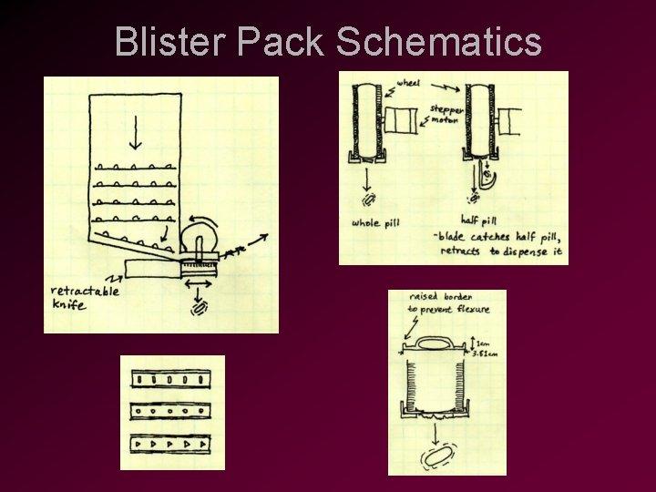 Blister Pack Schematics