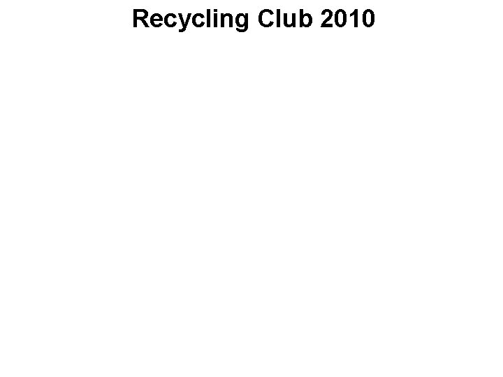 Recycling Club 2010