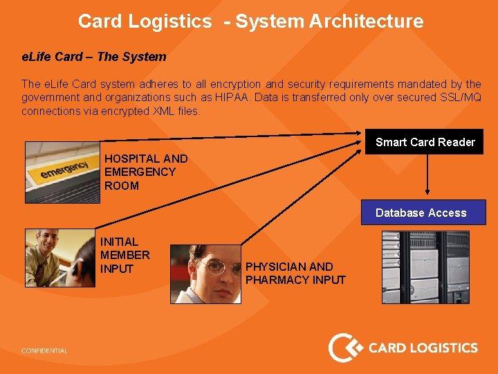 Card Logistics - System Architecture e. Life Card – The System The e. Life