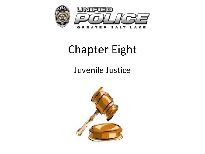 Chapter Eight Juvenile Justice