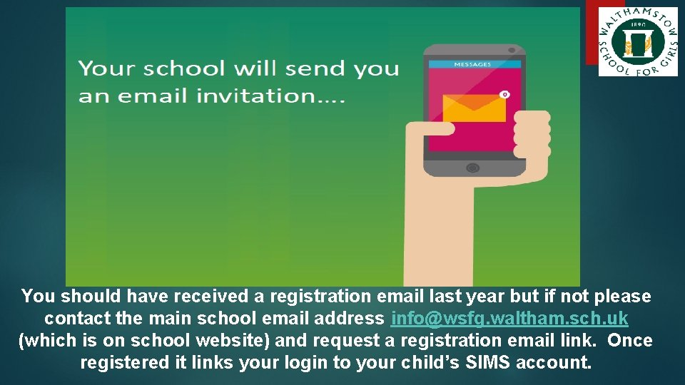 You should have received a registration email last year but if not please contact