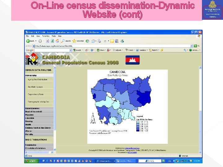 On-Line census dissemination-Dynamic Website (cont)