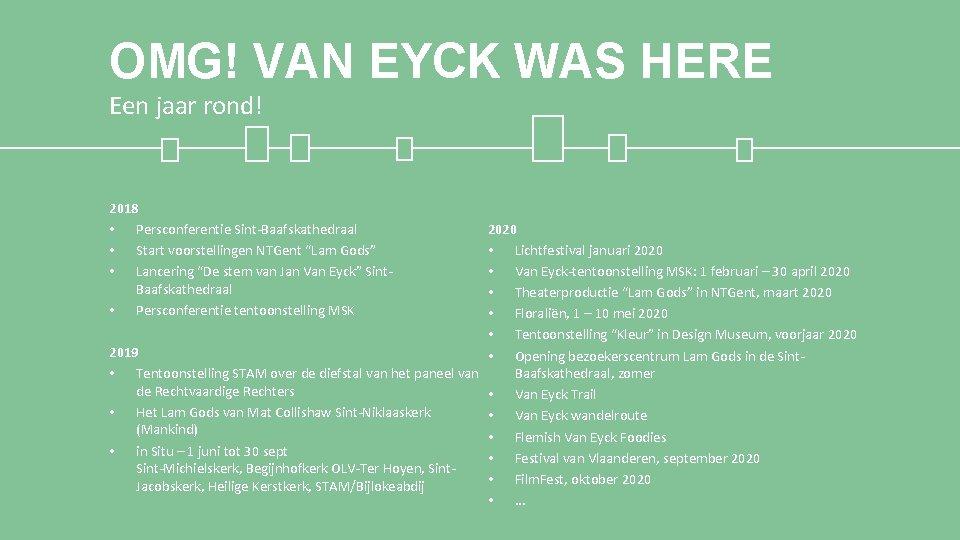 OMG! VAN EYCK WAS HERE Een jaar rond! 2020 • Lichtfestival januari 2020 •