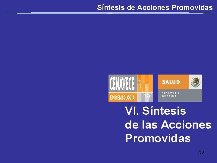 Síntesis de Acciones Promovidas VI. Síntesis de las Acciones Promovidas 59