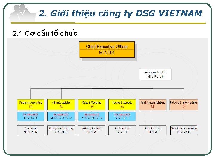 2. Giơ i thiê u công ty DSG VIETNAM 2. 1 Cơ câ u