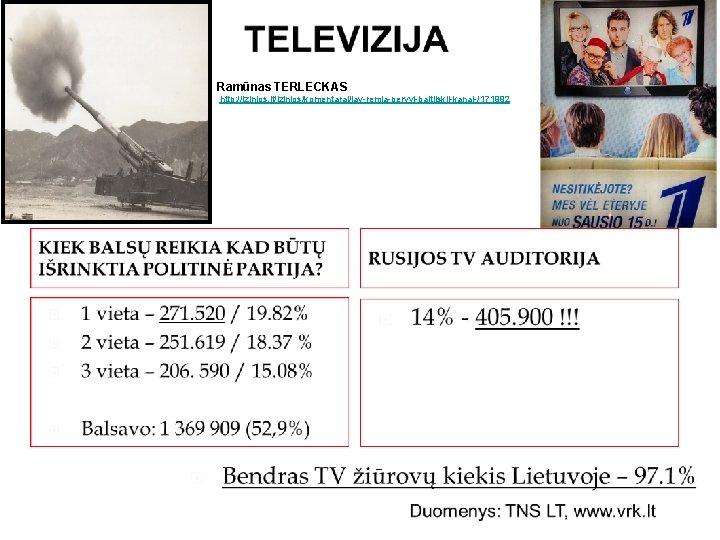 Ramūnas TERLECKAS http: //lzinios. lt/lzinios/komentarai/jav remia pervyj baltijskij kanal /171992
