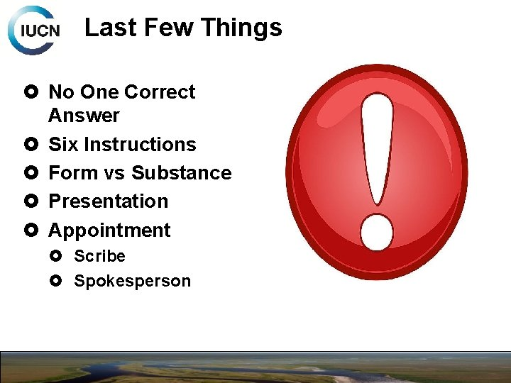 Last Few Things No One Correct Answer Six Instructions Form vs Substance Presentation Appointment