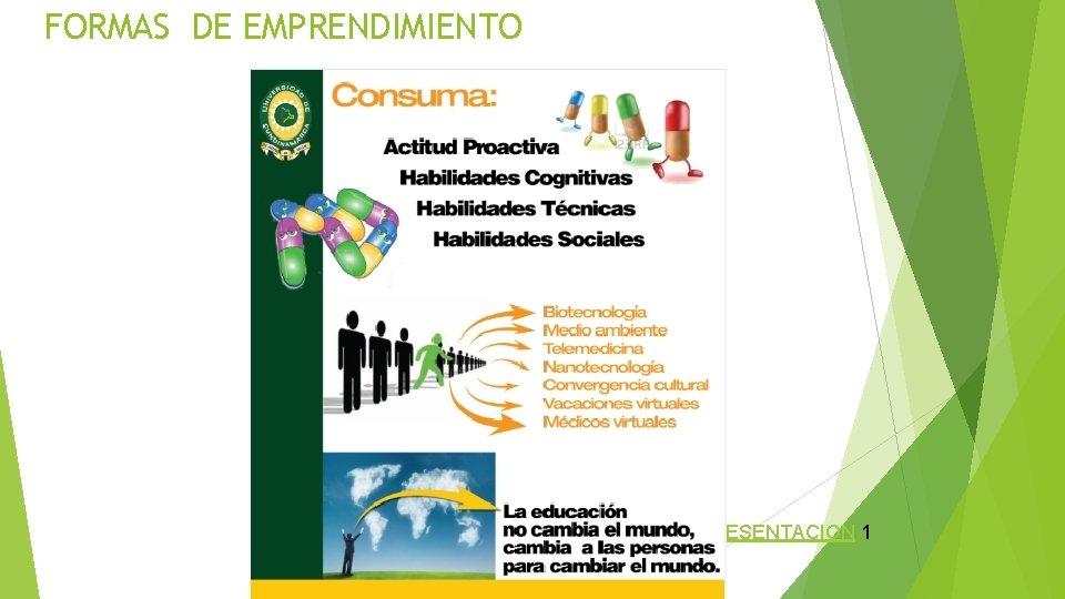 FORMAS DE EMPRENDIMIENTO PRESENTACION 1