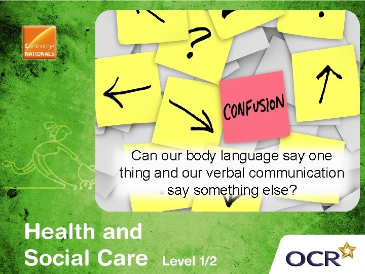 Can our body language say one thing and our verbal communication say something else?