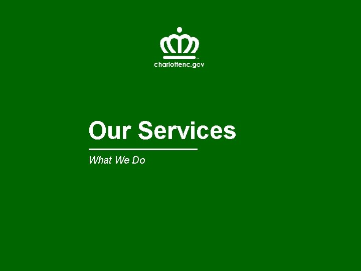 Our Services What We Do