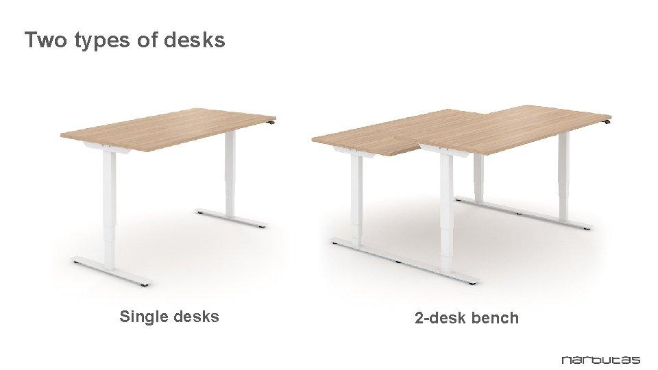 Two types of desks Single desks 2 -desk bench