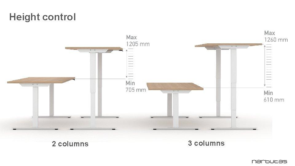 Height control 2 columns 3 columns