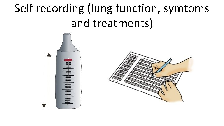 Self recording (lung function, symtoms and treatments)