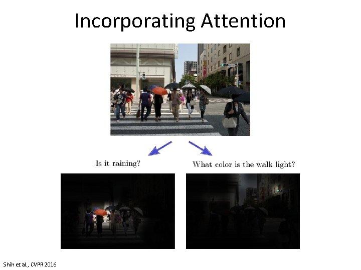 Incorporating Attention Shih et al. , CVPR 2016