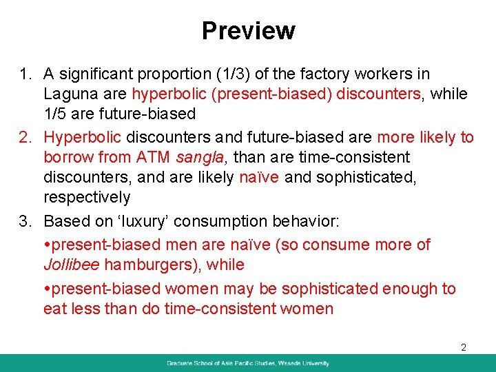 Preview 1. A significant proportion (1/3) of the factory workers in Laguna are hyperbolic