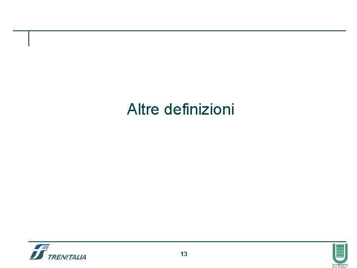 Altre definizioni 13