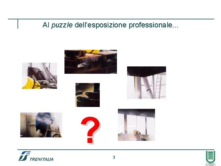 Al puzzle dell'esposizione professionale. . . ? 3