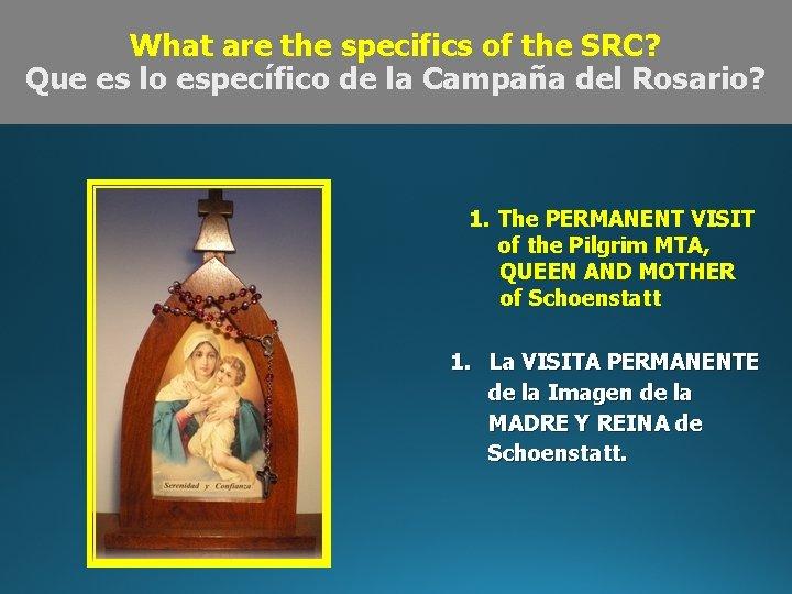 What are the specifics of the SRC? Que es lo específico de la Campaña