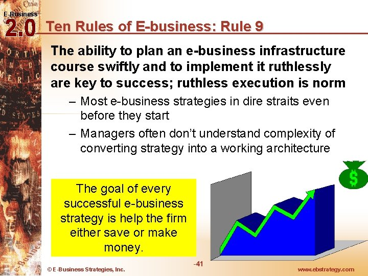 E-Business Ten Rules of E-business: Rule 9 The ability to plan an e-business infrastructure