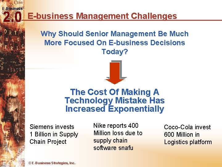 E-Business E-business Management Challenges Why Should Senior Management Be Much More Focused On E-business